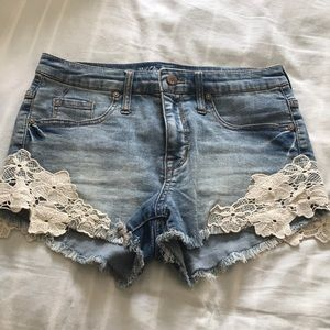 Mossimo High Rise Jean Shorts